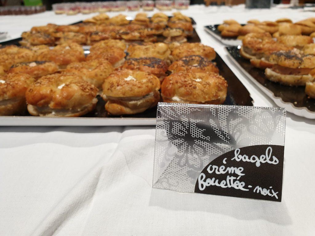 bagels crème fouettée noix